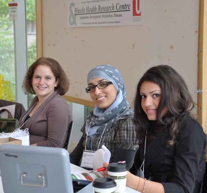 photo of receptionists for MHAD event