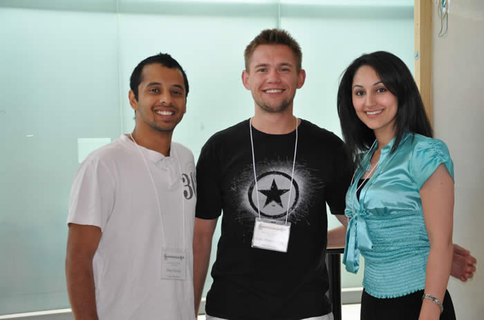 photo of three attendees in Lassonde Building