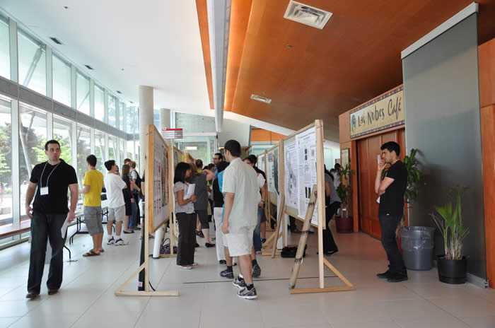 view of poster presentation area in Lassonde Building