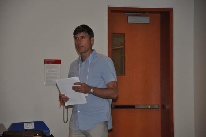 Michael Riddell speaking