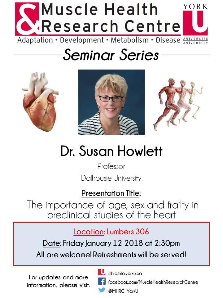 MHRC Seminar Speaker- Dr. Susan Howlett @ 306 Lumbers, York University | Toronto | Ontario | Canada