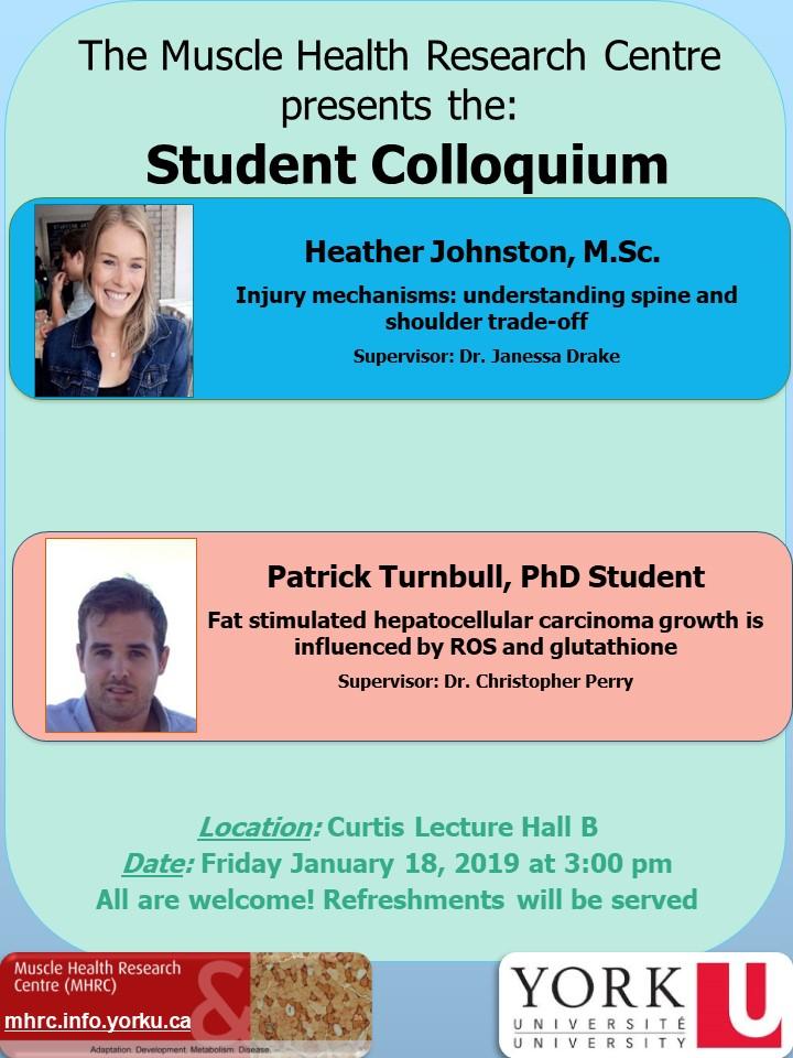 MHRC Student Colloquium - 2019 @ Curtis Lecture Hall B