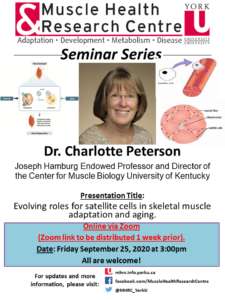 MHRC Seminar Series with Dr. Peterson