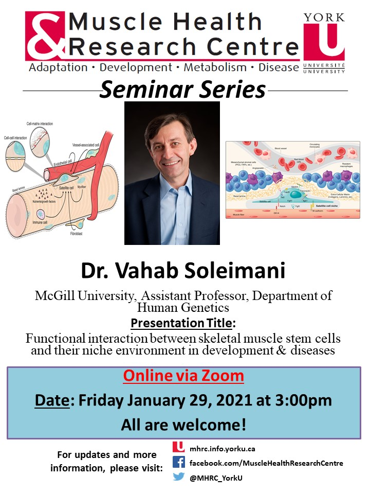 MHRC Seminar Series with Dr. Soleimani @ Online via Zoom